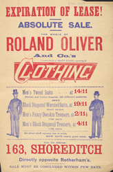 Advert for Rowland Oliver & Co, clothing company